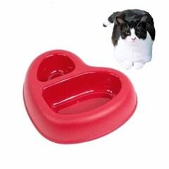 강아지 고양이 2구식기 댓츠 아모르(레드)