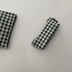 다크그린 삼각 필통(Dark green triangle pencil case)