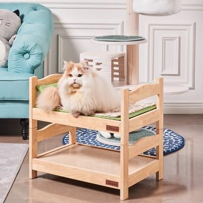 강아지 고양이 고무나무 천연대리석 침대