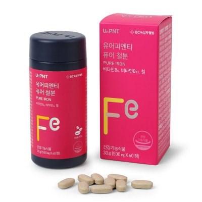 녹십자웰빙 유어피엔티 퓨어 철분 500mg x 60정 3병 (3개월분)