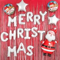 크리스마스 파티 장식세트 [메리크리스마스 리얼산타]_(12077444)