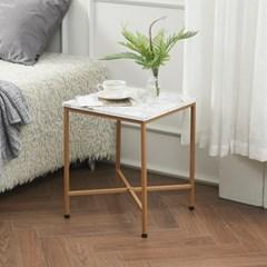 수어사이드 테이블 600 마블 사각 쇼파 침대 간이 협탁_(208913)