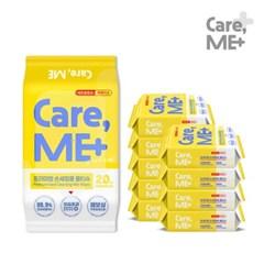 [케어미]손세정티슈 20매 x 10팩 99.9% 항균 휴대용물티슈