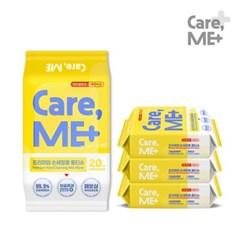 [케어미]손세정티슈 20매 x 4팩 99.9% 항균 휴대용물티슈