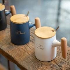 봉봉손잡이뚜껑머그(컬러선택) / 카페 도자기 머그 컵 잔 선물용