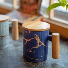 씨엘손잡이뚜껑머그(컬러선택) / 카페 도자기 머그 컵 잔 선물용