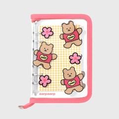 Blossom bear heart-pink(6hole diary)_(1623130)