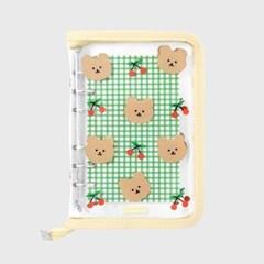 Dot cherry bear-ivory(6hole diary)_(1623129)