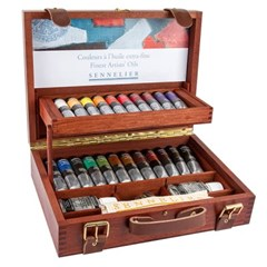 [시넬리에]전문가 유화물감세트 22색   WoodenBOX   N13_(12645601)