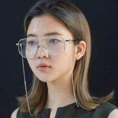 스키니 클라습 체인 안경줄 마스크목걸이 실버 _ Silver