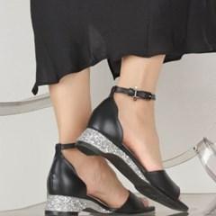 (1cm,3cm,5cm) sea sandal - black stone