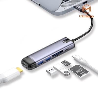 Mcdodo 6 in 1 C타입 USB 멀티 확장 허브 어댑터