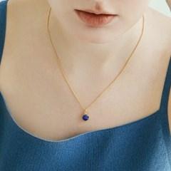 Lapis Lazuli Round Necklace (14K 골드필드)