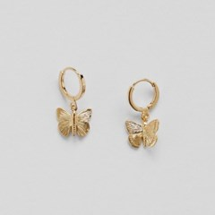 butterfly one touch earrings (2colors)