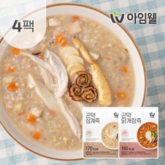 [아임웰] 닭가슴살 영양 곤약죽 2종 4팩