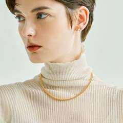 Link Chain Necklace 4mm (14K 골드필드)