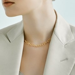 Twist Oval Chain Necklace 6mm (14K 골드필드)