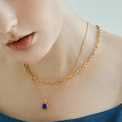 Smooth Oval Chain Necklace 5mm (14K 골드필드)