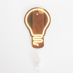 LED 네온 원목 벽등