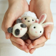 하마나카 양모펠트 DIY키트 작은 동물 친구들 441-481