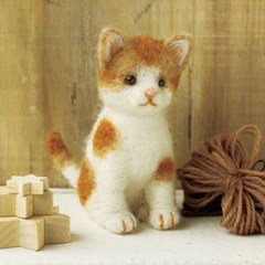 하마나카 양모펠트 DIY키트 치즈점박이 고양이 441-268