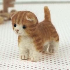 하마나카 양모펠트 DIY키트 먼치킨 고양이 441-300