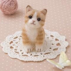 하마나카 양모펠트 DIY키트 다토라 고양이 441-512