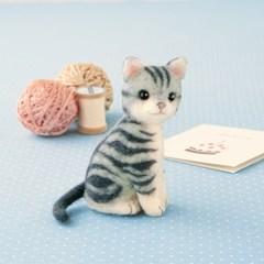 하마나카 양모펠트 DIY키트 아메리칸 숏헤어 고양이 441-426