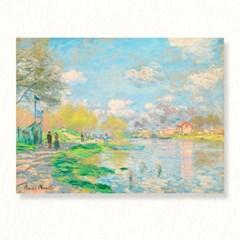 모네 센강의봄 명화 캔버스액자 거실그림