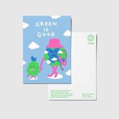 지구샵 제로 캐릭터 엽서 : GREEN IS GOOD