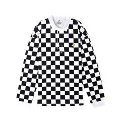 [SS18 Peanuts] Checker Rugby Shirts(Black)_(786773)