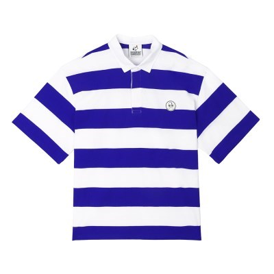 [SM18 Peanuts] Stripe Rugby Shirts(Blue)_(786772)