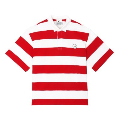 [SM18 Peanuts] Stripe Rugby Shirts(Red)_(786771)