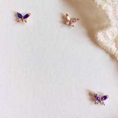 [봄밤달] 영롱한 나비 써지컬 피어싱 (귀걸이침 변경가능)
