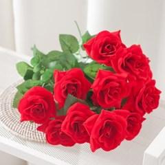 로얄벨벳로즈부쉬 47cm 조화 꽃 인테리어 장식 FAGAFT
