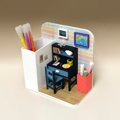 스터디룸 펜꽂이 미니어처 만들기 DIY 풀키트