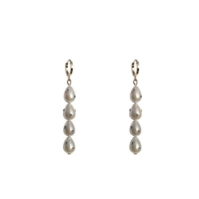 Goddess Pearl drop earrings