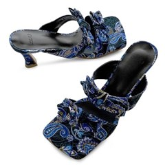 kami et muse Paisley print ribbon heel slippers_KM20s268