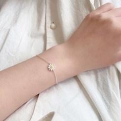 [925 silver] 노랑 데이지 꽃 실버 은 팔찌 & 발찌 & 목걸이