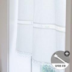내츄럴 린넨 창문가리개커튼+압축봉