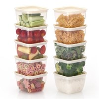 한끼밥 냉동밥 전자렌지용기 400ml 10개(크림)