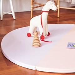 베딩베베 핑크 마카롱 원형 2단 140cm 유아 놀이 아이방 폴더매트