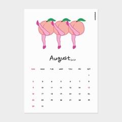 [카멜앤오아시스] August 2020 캉캉 복숭아 8월 달력