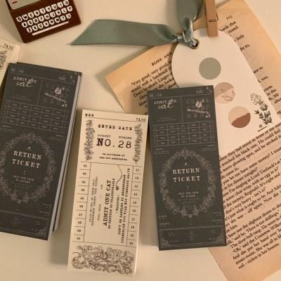 냥냥빔 vintage ticket memopad (2종)