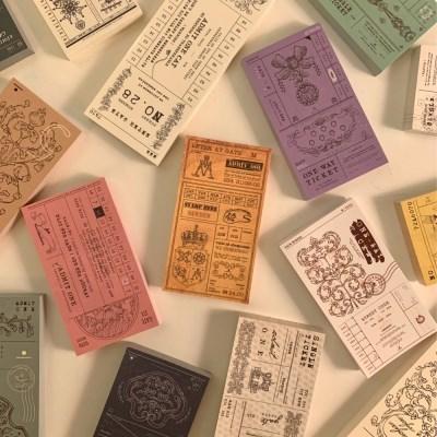 냥냥빔 vintage ticket memopad (12종)