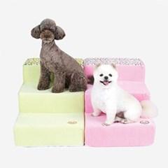 핑크 레몬 펫 스텝 강아지 계단 침대