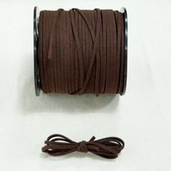3mm 샤무드끈 고동색 1야드 90cm 세무끈 포장끈 팔찌끈