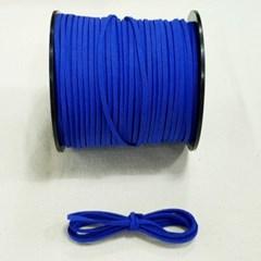 3mm 샤무드끈 파랑색 1야드 90cm 세무끈 포장끈 팔찌끈