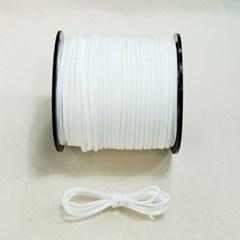 3mm 샤무드끈 흰색 1야드 90cm 세무끈 포장끈