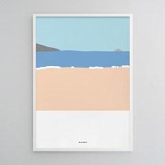 그 여름 바다 M 유니크 인테리어 디자인 포스터 해변